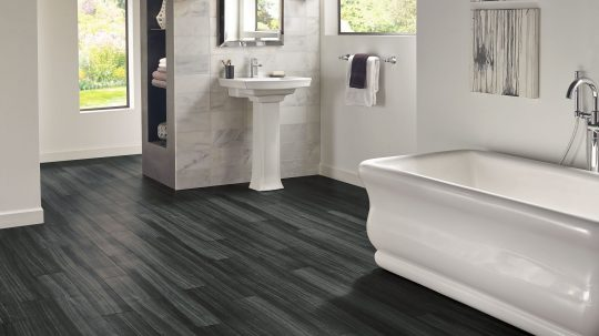 installing vinyl flooring in bathroom
