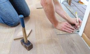 Floor Installer at Work