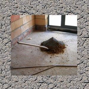 Leveling uneven concrete floor