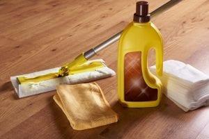 Wood floor disinfection